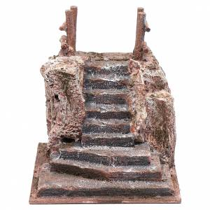 Nativity scene stairway with little square 15x15x20 cm s1