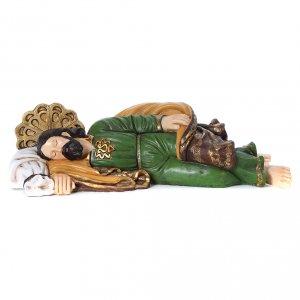 Nativity Scene figurines: Nativity scene statue Saint Joseph sleeping 100 cm