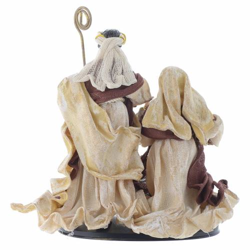 Nativity scene with arch in Cream Brown resin measuring 25cm s4
