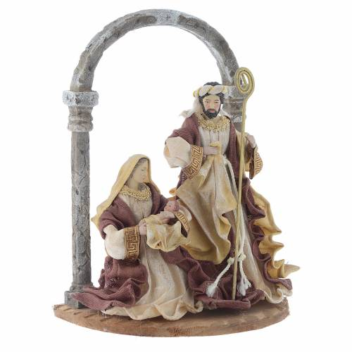 Nativity scene with arch in Cream Brown resin measuring 41cm s3