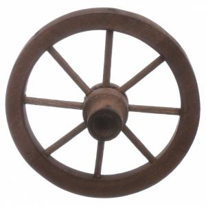 Miniature tools: Nativity scene wooden cart wheel diam. 7 cm