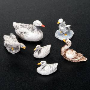 Animals for Nativity Scene: Nativity set accessories, 6-piece geese figurines