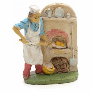 Nativity set accessory, Baker with oven figurine s1