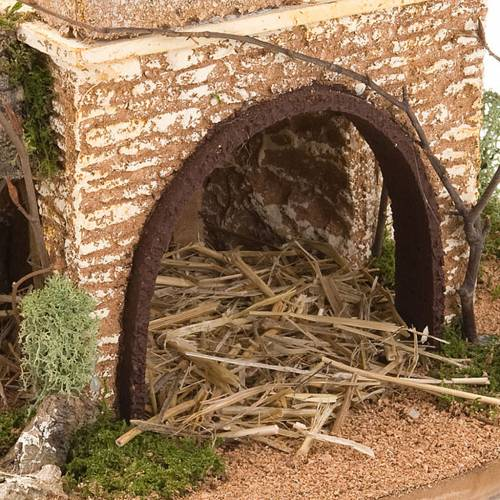 Nativity set accessory, cave with hamlet 30x42x30 cm 4