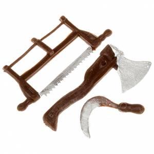 Miniature tools: Nativity set accessory, farmer tools