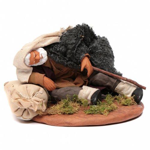 Nativity set accessory man asleep 14 cm figurine s1