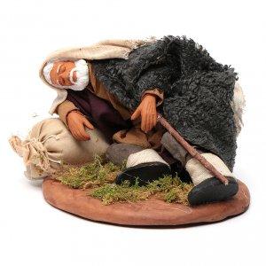 Neapolitan Nativity Scene: Nativity set accessory man asleep 14 cm figurine