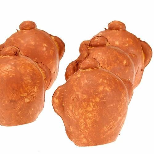 Nativity set accessory plastic jars 6 pcs s2