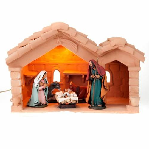 Nativity set complete with manger 25 figurines 18 cm s2