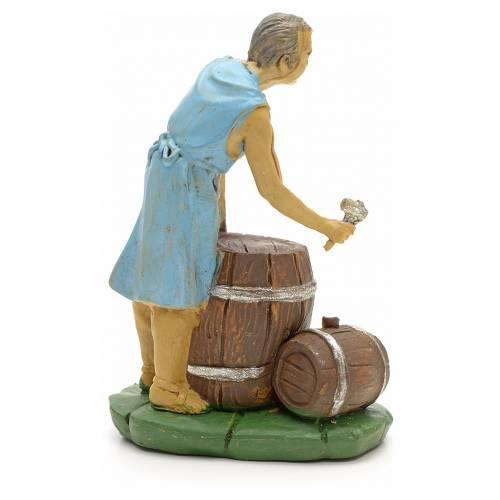 Nativity set figurine, Woman with barrels 10cm s2