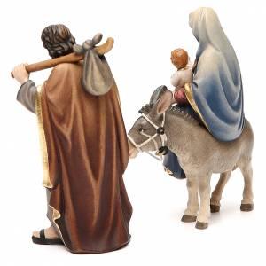 Nativity scene from Val Gardena: Nativity set, Flight into Egypt