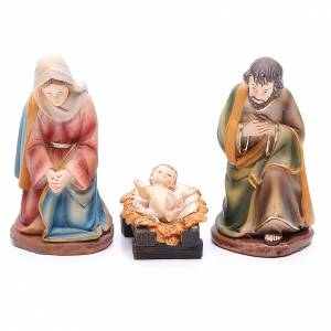 Resin and Fabric nativity scene sets: Nativity set in resin, 11 figurines measuring 14cm