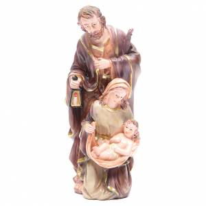 Nativity sets: Nativity set with 3 figurines in resin measuring 30cm