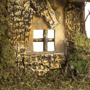 Nativity setting, cork stable 28x42x18cm s4