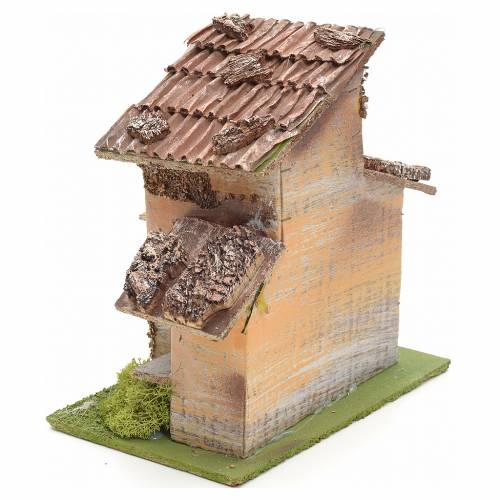 Nativity setting, rustic house 18x18x12cm s3