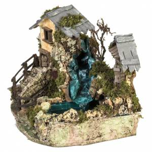 Nativity setting, waterfall between houses s6