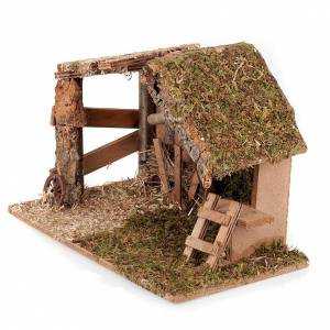 Stables and grottos: Nativity stable moss and cork with manger and stairs