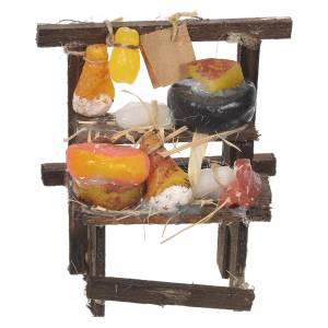 Miniature food: Nativity stall, cured meat seller in wax 8.5x6x4cm