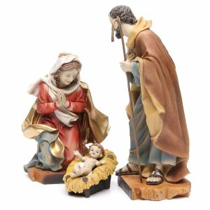 Nativity with 3 figurines measuring 30cm, in resin s2