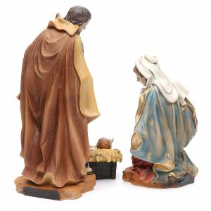 Nativity with 3 figurines measuring 30cm, in resin s4