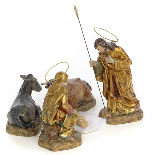 Nativity with 5 pieces, 15cm (polychromatic decoration) s4