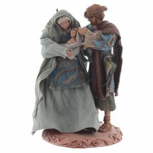 Nativity sets: Nativity with base, 20cm shabby chic style