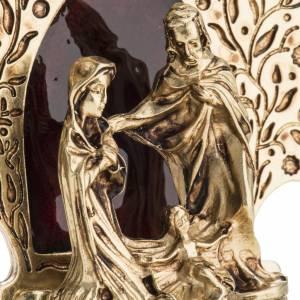 Nativity with tree 9x7.5cm s3