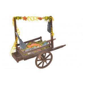 Neapolitan Nativity accessory, terracotta fish cart, 15x18x8cm s2