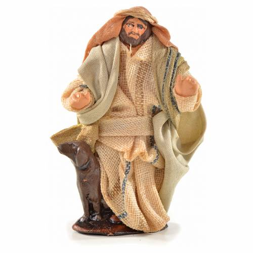 Neapolitan Nativity, Arabian style, man with dog 6cm s1