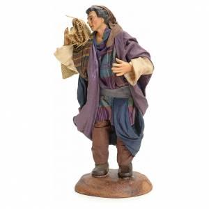 Neapolitan Nativity figurine, Arabian man with sack, 18 cm s2