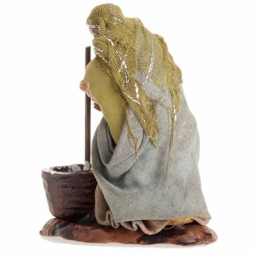 Neapolitan nativity figurine, female cheese maker 8cm s3