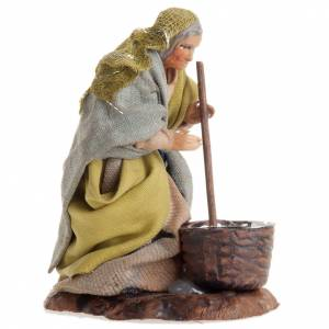 Neapolitan nativity figurine, female cheese maker 8cm s2