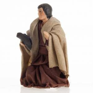 Neapolitan Nativity figurine, Kneeling beggar 8cm s2