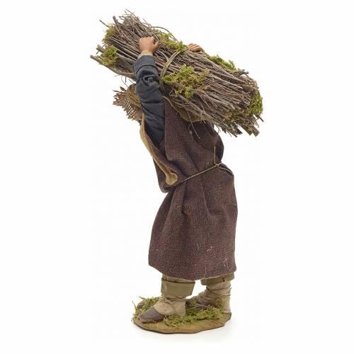 Neapolitan Nativity figurine, lumberjack with wood bundle, 24cm s3