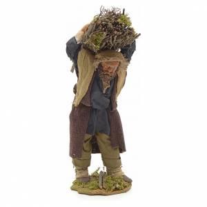 Neapolitan Nativity figurine, lumberjack with wood bundle, 24cm s1