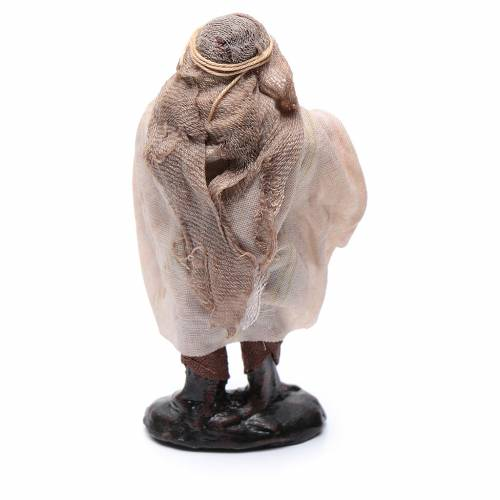 Neapolitan Nativity figurine, Old beggar 8cm s2