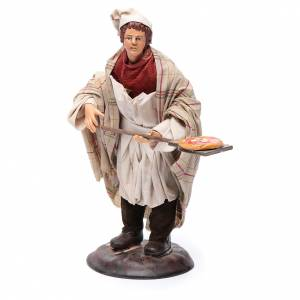 Neapolitan Nativity figurine, pizza maker, 18 cm s2