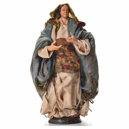 Neapolitan nativity figurine, pregnant woman 30cm s1
