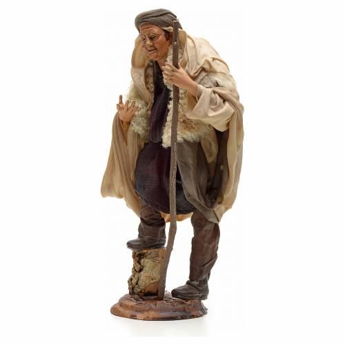 Neapolitan Nativity figurine, shepherd with stick, 30 cm s2