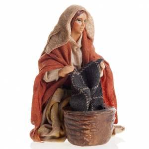 Neapolitan Nativity figurine, Washerwoman 8cm s1