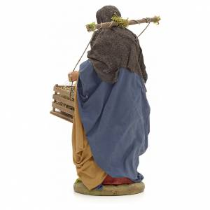 Neapolitan Nativity figurine, woman with hen cage, 24 cm s3