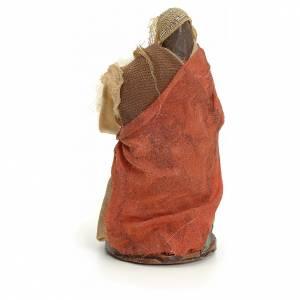Neapolitan Nativity figurine, woman with wool, 8 cm s3