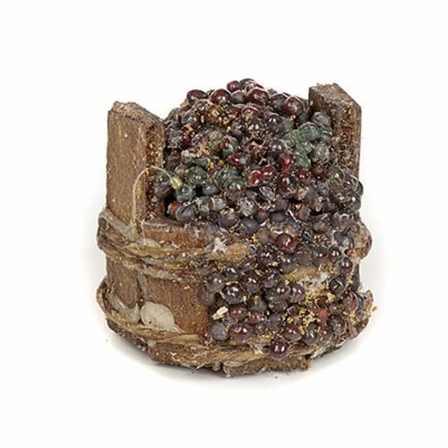 Neapolitan Nativity scene accessory, black grapes tub s1