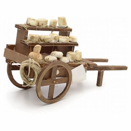 Neapolitan Nativity scene accessory, cheese cart s2