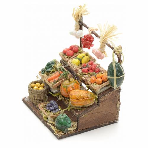 Neapolitan Nativity scene accessory, mini fruit stall, 8 cm s3