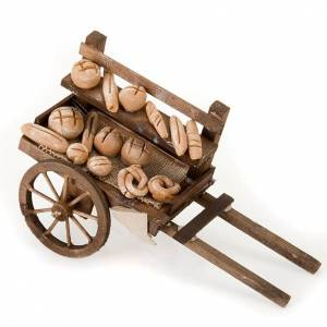 Neapolitan set accessory handcart wood with bread terracotta s1