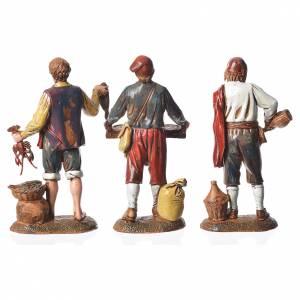 Neapolitan style characters, 3 nativity figurines, 6cm Moranduzzo s2