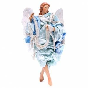 Ángel 18-22 cm azul alas curvas belén Nápoles s1