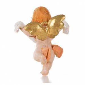 Ángel con paño rosado Fontanini 7 cm. símil porcelana s2