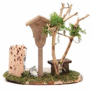 Niche en bois avec Vierge 14x9,5x13 cm s2
